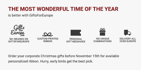 The most wonderful time of the year is better with GiftsForEurope