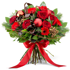 Red Festive Bouquet - Medium (30 cm)